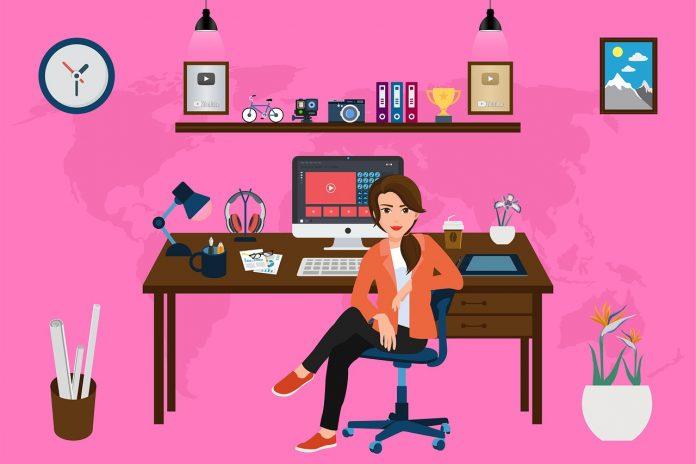 Covid-19 ein Büro zu Hause